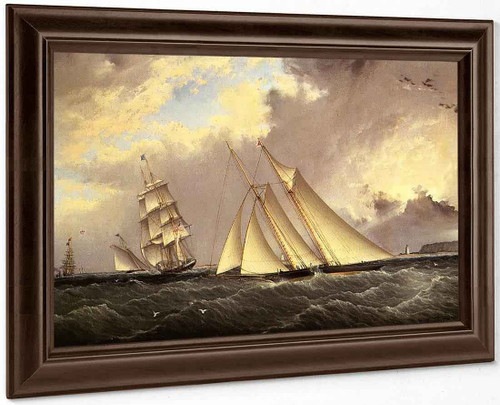 The Dauntless Off Sandy Hook By James E. Buttersworth