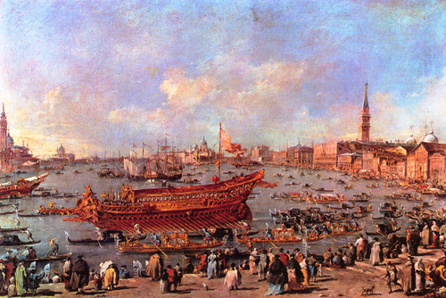 The Departure Of Bucentaur For The Lido On Ascension Day By Francesco Guardi