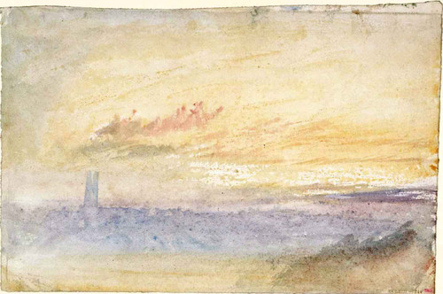 The Distant Tower, Evening By Joseph Mallord William Turner