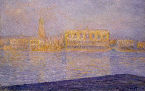 The Doges' Palace Seen From San Giorgio Maggiore By Claude Oscar Monet