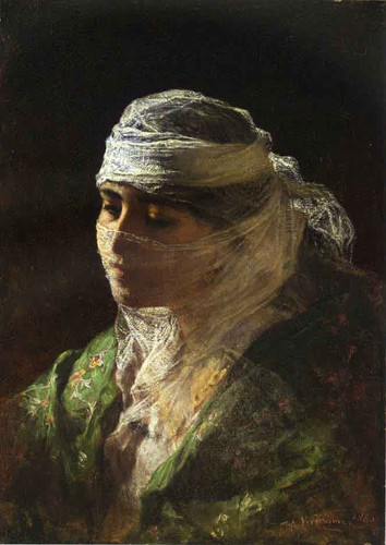 A Veiled Beauty Of Constantinople By Frederick Arthur Bridgman