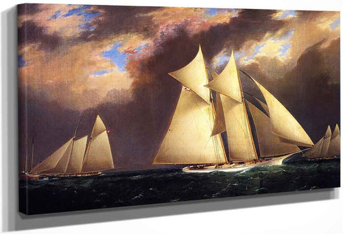 The First Americas Cup Race, August 8, 1870 By James E. Buttersworth