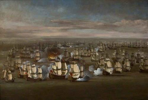 The Fleet At Sea By Willem Van De Velde The Younger