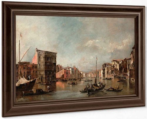 The Grand Canal, Venice, With The Palazzo Bembo By Francesco Guardi