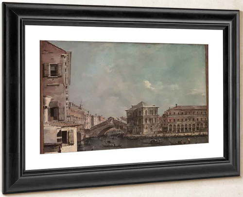 The Grand Canal Above The Rialto By Francesco Guardi