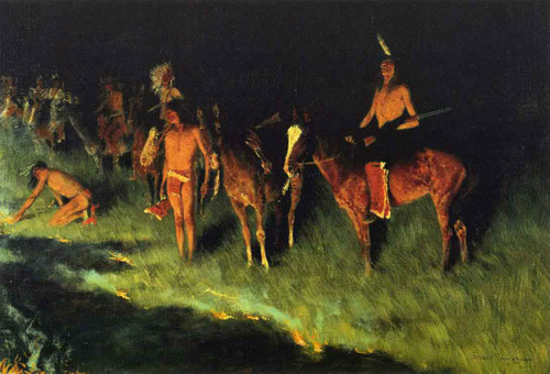 The Grass Fire By Frederic Remington