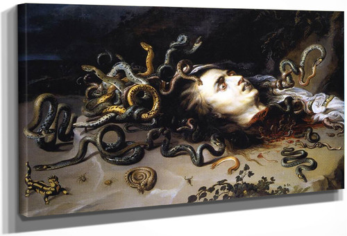 The Head Of Medusa By Peter Paul Rubens