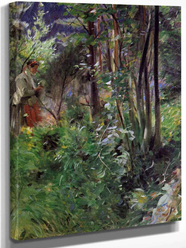 A Woman In A Forest By Anders Zorn