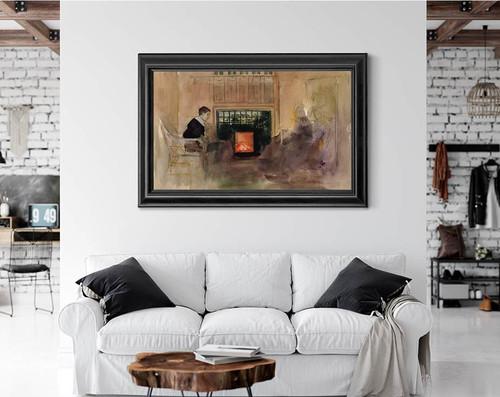The Interior By Albert Edelfelt