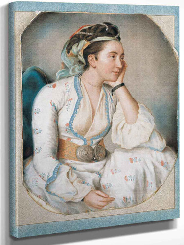 A Woman In Turkish Dress By Jean Etienne Liotard