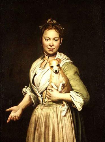A Woman With A Dog By Giacomo Ceruti