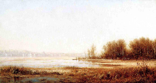 The Marshes Of The Hudson By Sanford Robinson Gifford