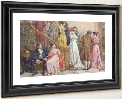 The Next Dance By George Goodwin Kilburne By George Goodwin Kilburne
