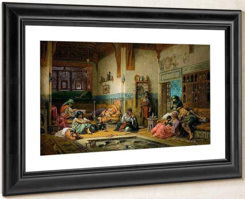The Nubian Storyteller In The Harem By Frederick Arthur Bridgman