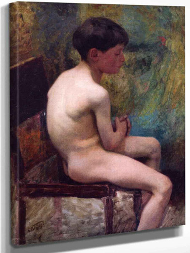 A Young Boy By Edward Potthast