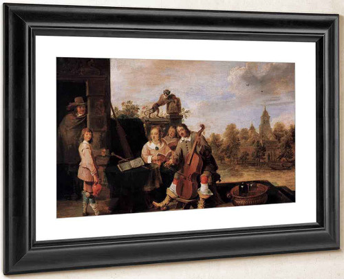 The Painter And His Family By David Teniers The Younger