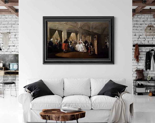 The Parlour Of The Nuns At San Zaccaria By Francesco Guardi