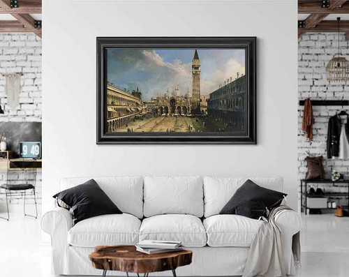 The Piazza San Marco In Venice By Canaletto By Canaletto
