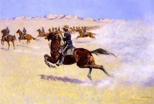 The Pursuit By Frederic Remington