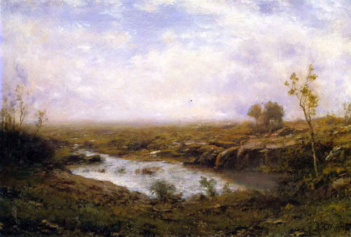 The Quiet Pond By Alexander Helwig Wyant