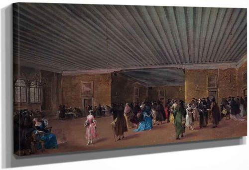 The Ridotto Pubblico At Palazzo Dandolo By Francesco Guardi