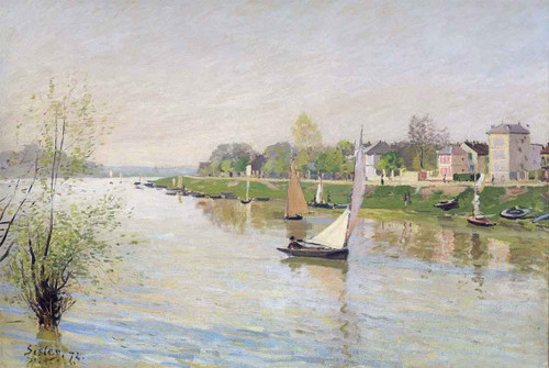 The Seine At Argenteuil By Alfred Sisley