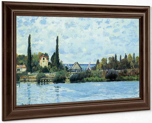 The Seine At Bougival 2221 By Alfred Sisley
