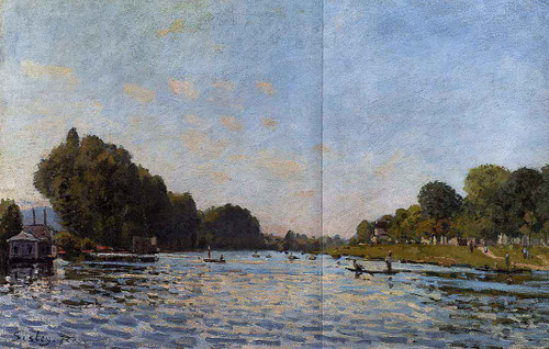 The Seine At Bougival 55 By Alfred Sisley