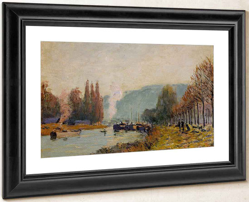 The Seine At Bougival22 By Alfred Sisley