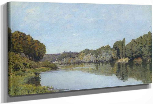 The Seine At Bougival` By Alfred Sisley