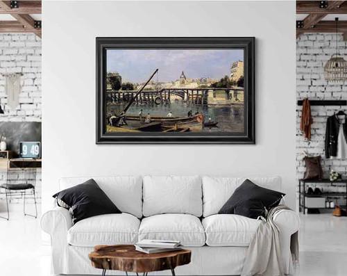 The Seine At Ile Saint Denis1 By Stanislas Lepine