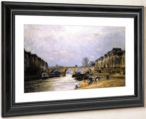 The Seine At Pont Marie By Stanislas Lepine