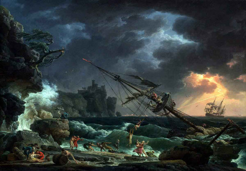 The Shipwreck By Claude Joseph Vernet