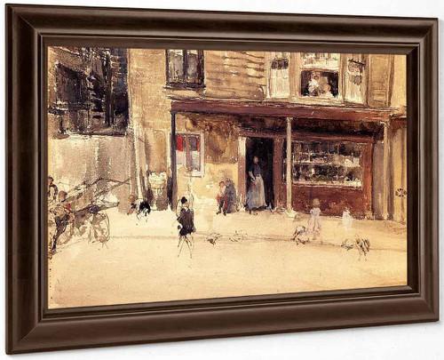 The Shop An Exterior By James Abbott Mcneill Whistler American 1834 1903