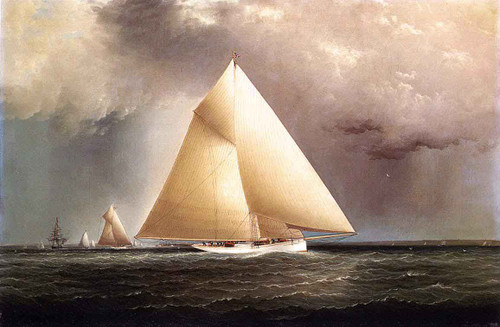 The Sloop Galatea By James E. Buttersworth
