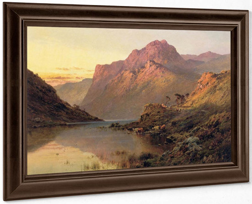 The Snowdon Valley, Wales By Alfred De Breanski, Sr.