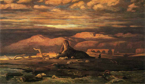 The Sphinx Of The Seashore By Elihu Vedder