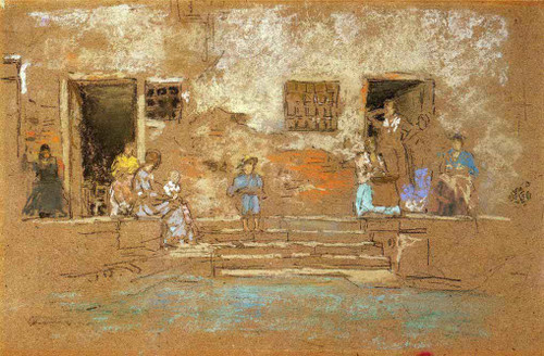 The Steps By James Abbott Mcneill Whistler American 1834 1903