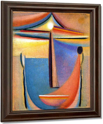 Abstract Head 10 By Alexei Jawlensky