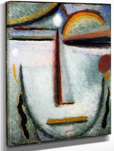 Abstract Head 13 By Alexei Jawlensky By Alexei Jawlensky