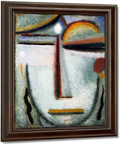 Abstract Head 13 By Alexei Jawlensky