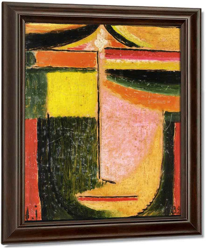 Abstract Head 14 By Alexei Jawlensky