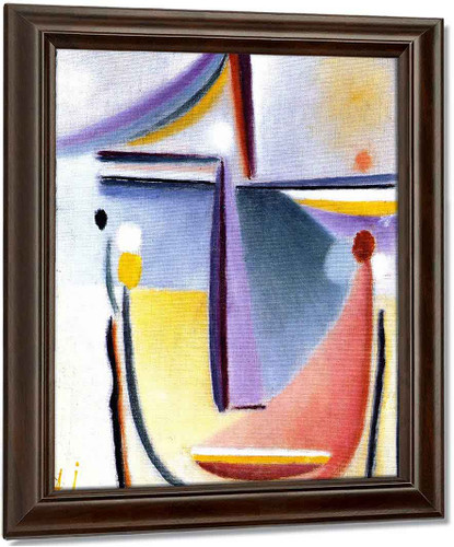 Abstract Head 16 By Alexei Jawlensky