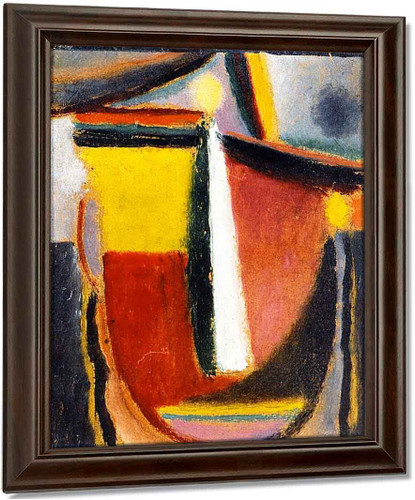Abstract Head 17 By Alexei Jawlensky