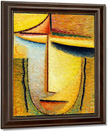 Abstract Head 9 By Alexei Jawlensky