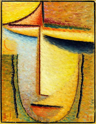 Abstract Head 9 By Alexei Jawlensky By Alexei Jawlensky