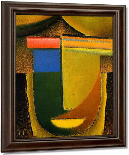 Abstract Head Africa By Alexei Jawlensky
