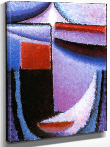 Abstract Head Amethyst By Alexei Jawlensky By Alexei Jawlensky