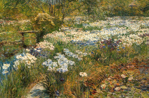 The Water Garden By Frederick Childe Hassam
