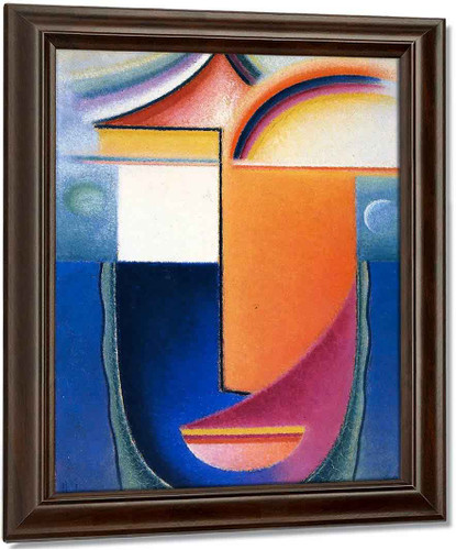 Abstract Head Appearance By Alexei Jawlensky
